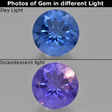 thumb image of 11.6ct Round Facet Violet-Blue Color-Change Fluorite (ID: 413695)