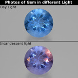 thumb image of 10.9ct Round Facet Violet-Blue Color-Change Fluorite (ID: 413712)