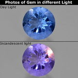 thumb image of 11.4ct Round Facet Violet-Blue Color-Change Fluorite (ID: 413729)