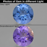 thumb image of 14.7ct Round Facet Violet-Blue Color-Change Fluorite (ID: 413730)