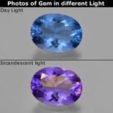 thumb image of 21.8ct Oval Facet Violet-Blue Color-Change Fluorite (ID: 413805)