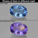 thumb image of 20.5ct Oval Facet Violet-Blue Color-Change Fluorite (ID: 413811)