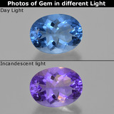 thumb image of 22.2ct Oval Facet Violet-Blue Color-Change Fluorite (ID: 413815)