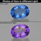 thumb image of 21.5ct Oval Facet Violet-Blue Color-Change Fluorite (ID: 413816)