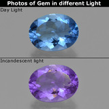 thumb image of 20.6ct Oval Facet Dark Navy Blue Color-Change Fluorite (ID: 413902)