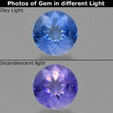 thumb image of 11.7ct Round Facet Violet-Blue Color-Change Fluorite (ID: 414403)