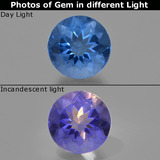 thumb image of 11.8ct Round Facet Violet-Blue Color-Change Fluorite (ID: 414410)
