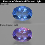 thumb image of 8.6ct Oval Facet Violet-Blue Color-Change Fluorite (ID: 414550)