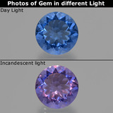 thumb image of 10.1ct Round Facet Violet-Blue Color-Change Fluorite (ID: 414624)