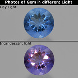 thumb image of 11.6ct Round Facet Violet-Blue Color-Change Fluorite (ID: 414628)