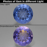 thumb image of 11.8ct Round Facet Violet-Blue Color-Change Fluorite (ID: 445133)