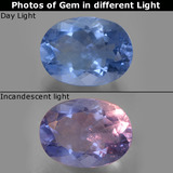 thumb image of 9ct Oval Facet Violet-Blue Color-Change Fluorite (ID: 445407)