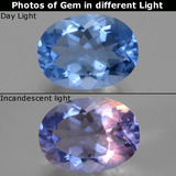 thumb image of 8.7ct Oval Facet Violet-Blue Color-Change Fluorite (ID: 445409)