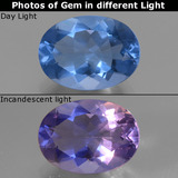 thumb image of 8.3ct Oval Facet Violet-Blue Color-Change Fluorite (ID: 445410)
