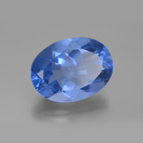 20.76 ct Oval facettiert Egyptian Blue Farbwechselnder Fluorit Edelstein 20.14 mm x 15.2 mm (Photo B)