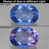 thumb image of 20.9ct Oval Facet Violet-Blue Color-Change Fluorite (ID: 445416)