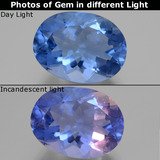 thumb image of 20.8ct Oval Facet Violet-Blue Color-Change Fluorite (ID: 445417)