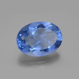 20.55 ct Oval Facet Medium Blue Color-Change Fluorite Gem 20.10 mm x 15.1 mm (Photo B)