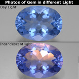 thumb image of 21.5ct Oval Facet Violet-Blue Color-Change Fluorite (ID: 445591)