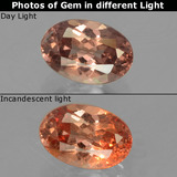 thumb image of 0.7ct Oval Facet Pinkish Rose to Orange Color-Change Garnet (ID: 226608)