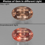 thumb image of 0.7ct Oval Facet Brownish Rose to Red Color-Change Garnet (ID: 226609)