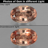 thumb image of 0.6ct Oval Facet Golden Brown to Pink Color-Change Garnet (ID: 226611)