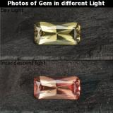thumb image of 0.7ct Octagon / Scissor Cut Greenish Brown To Red Pink Color-Change Garnet (ID: 238060)