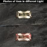 thumb image of 0.8ct Octagon / Scissor Cut Golden Brown to Pink Color-Change Garnet (ID: 238082)