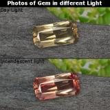 thumb image of 0.7ct Octagon / Scissor Cut Greenish Brown To Red Pink Color-Change Garnet (ID: 238083)