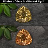 thumb image of 0.7ct Trillion Facet Greenish Brown To Red Pink Color-Change Garnet (ID: 242070)