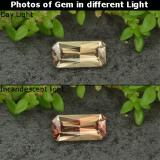 thumb image of 0.7ct Octagon Facet Golden Brown to Pink Color-Change Garnet (ID: 253148)