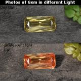 thumb image of 0.6ct Octagon Facet Golden Brown to Pink Color-Change Garnet (ID: 253154)