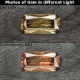 thumb image of 0.6ct Octagon / Scissor Cut Golden Brown to Orange Color-Change Garnet (ID: 253175)