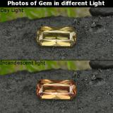 thumb image of 0.8ct Octagon Facet Golden Brown to Orange Color-Change Garnet (ID: 253178)