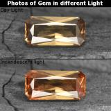 thumb image of 0.7ct Octagon Facet Golden Brown to Orange Color-Change Garnet (ID: 253183)
