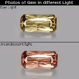 thumb image of 0.7ct Octagon / Scissor Cut Greenish Brown To Red Pink Color-Change Garnet (ID: 260030)