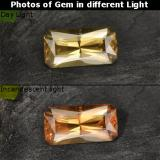 thumb image of 0.8ct Octagon / Scissor Cut Greenish Brown to Orange Color-Change Garnet (ID: 262415)