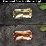 thumb image of 0.6ct Octagon / Scissor Cut Golden Brown to Orange Color-Change Garnet (ID: 262416)