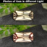 thumb image of 0.7ct Octagon / Scissor Cut Golden Brown to Orange Color-Change Garnet (ID: 262422)