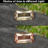 thumb image of 0.7ct Octagon / Scissor Cut Golden Brown to Orange Color-Change Garnet (ID: 262425)