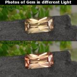 thumb image of 0.7ct Octagon / Scissor Cut Golden Brown to Orange Color-Change Garnet (ID: 262429)