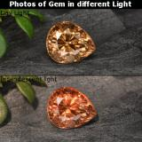 thumb image of 1.1ct Pear Facet Golden Brown to Orange Color-Change Garnet (ID: 299727)