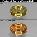 thumb image of 0.7ct Oval Facet Green to Orange Color-Change Garnet (ID: 327742)