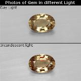 thumb image of 0.6ct Oval Facet Greenish Brown To Red Pink Color-Change Garnet (ID: 327743)