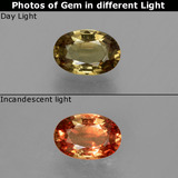 thumb image of 0.6ct Oval Facet Greenish Brown To Red Pink Color-Change Garnet (ID: 327744)