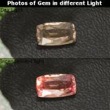 thumb image of 1.2ct Cushion-Cut Brownish Rose to Red Color-Change Garnet (ID: 327775)