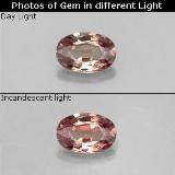 thumb image of 0.6ct Oval Facet Brownish Rose to Red Color-Change Garnet (ID: 327779)