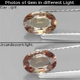 thumb image of 0.6ct Oval Facet Brownish Rose to Red Color-Change Garnet (ID: 327795)