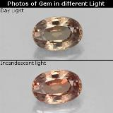 thumb image of 0.7ct Oval Facet Light Brown Color-Change Garnet (ID: 327796)