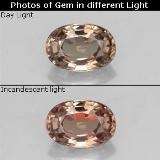 thumb image of 0.7ct Oval Facet Green to Red-Pink Color-Change Garnet (ID: 327798)